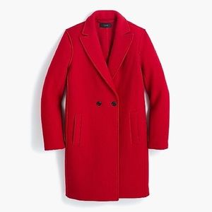 J. Crew Daphne Topcoat in Red Boiled Wool Size 10